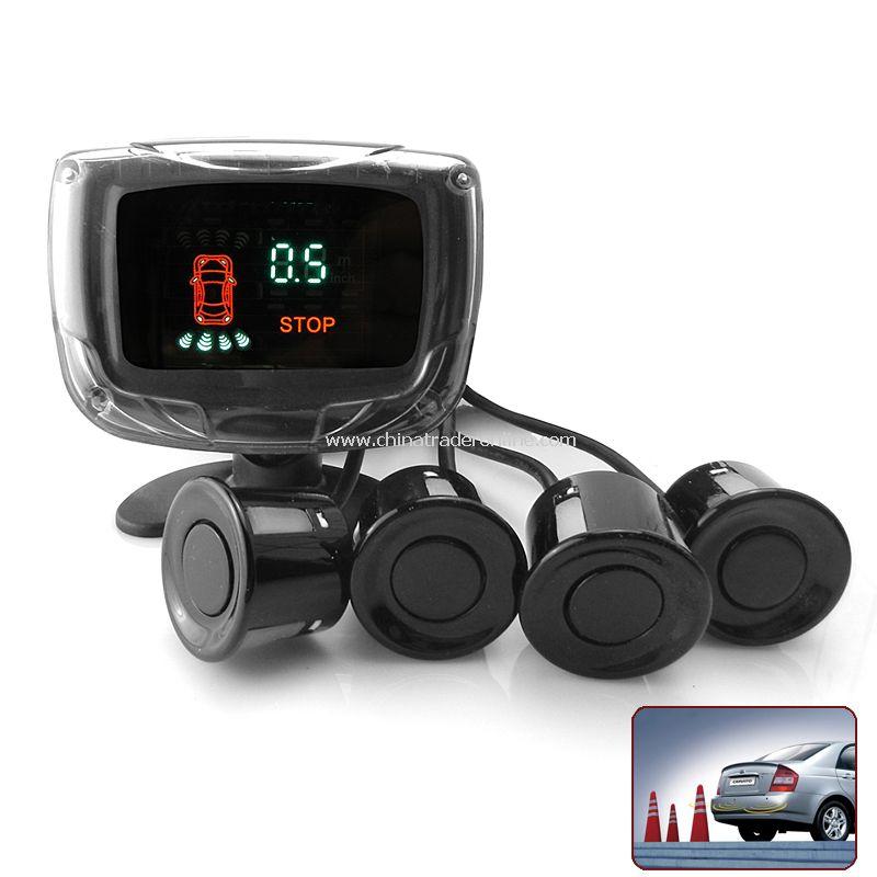 4 Sensors Parking Radar Sensor P6448B with VFD Display - Black