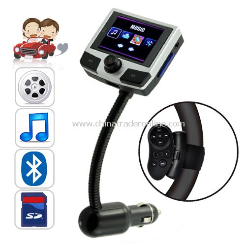 Bluemax Pro Car Bluetooth + MP4 Player with Steering Wheel Remote