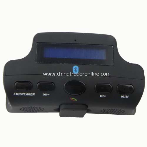 car steering wheel bluetooth car kit (MP3, FM,TTS,electric torch) from China