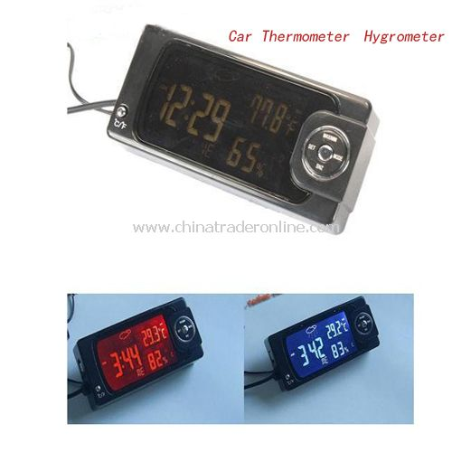 LCD Display Car Thermometer Hygrometer Clock Alarm