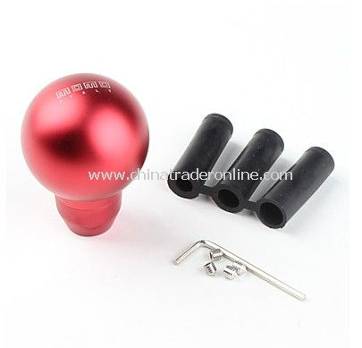 Round Stylish Aluminum Alloy Car Gear Shift Stick Knob - Red