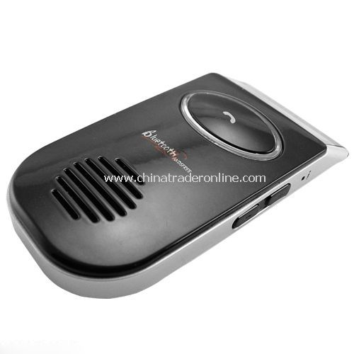 Solar Powered Bluetooth Car Kit - Caller ID LCD Display