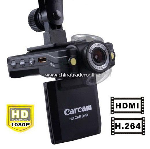 Vehicle DVR 270 Rotatable Car Camera Recorder Monitor