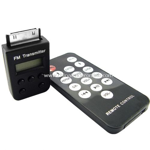 Wireless FM Transmitter for IPOD + IPHONE