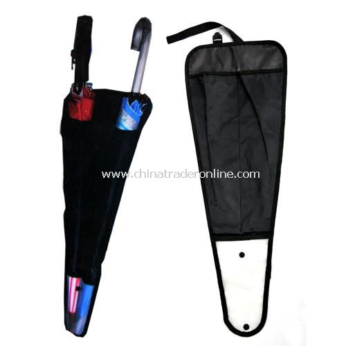 Multi-purpose car seat back umbrella bags umbrella sets