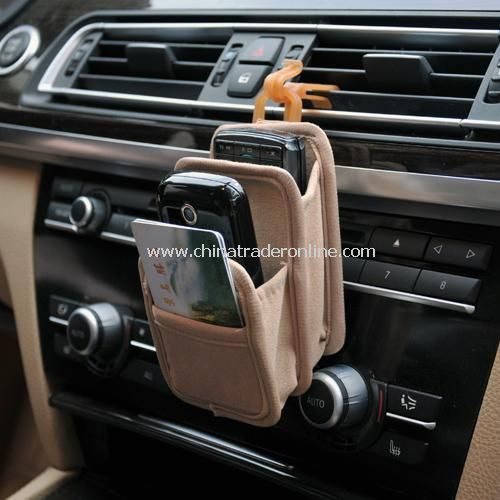 Multifunction car outlet compartment storage holder