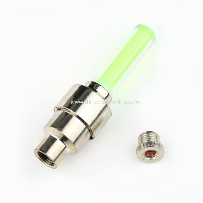 New Flashing LED Car Bicycle Tyre Valve Caps Lamp Light