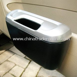 Plastic Multifunction Car Storage Trash Can Box