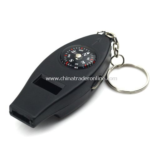 4 in 1 multifunctional compass / / key chain compass/whistle/magnifying glass/thermometer /