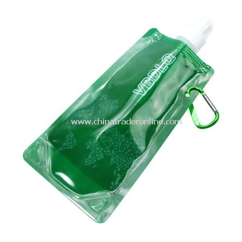 480ML portable folding water bottle ice pack / plastic bottle random color