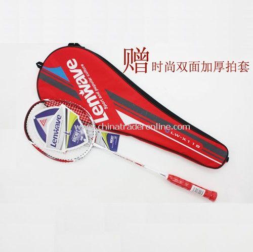 Badminton racket - a single loaded