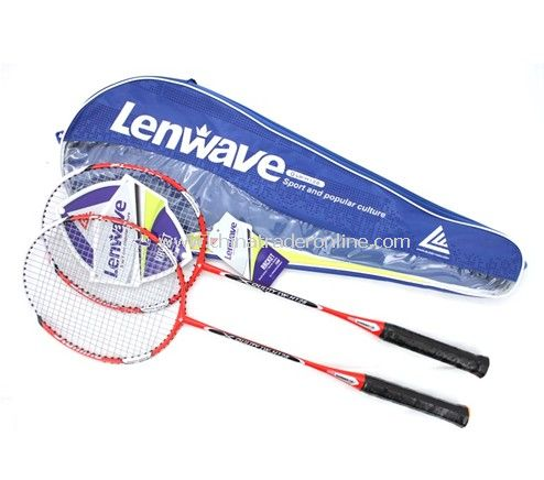Carbon aluminum alloy badminton racket