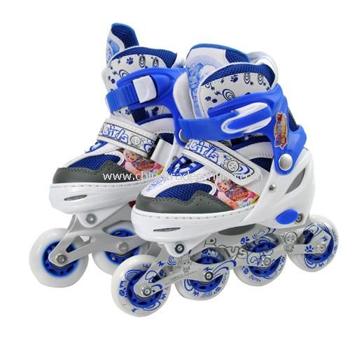 Goat and Big Big Wolf children four straight row roller skates Small Color random