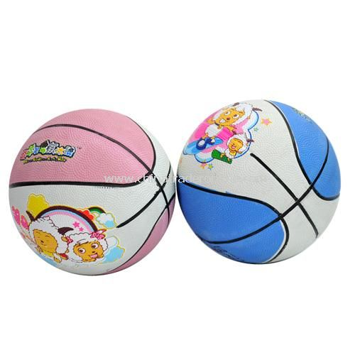 Goat and Big Big Wolf Children rubber basketball color random