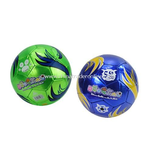 Goat and Big Big Wolf in authentic childrens metal leather inflatable football color random