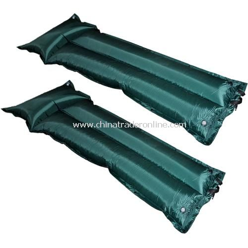 Green fold with pillow automatic inflatable single inflatable cushion