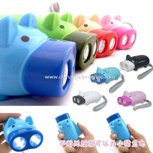 Hand pressure double torch lamp random color