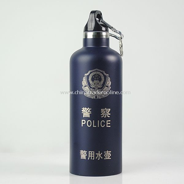 Police Stainless Steel Water Bottle Kettle Dark Blue