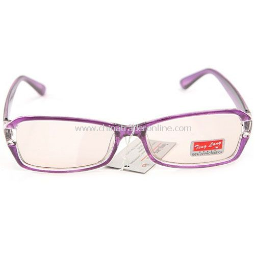 radiation glasses anti fatigue computer goggles purple with Glasses case from China
