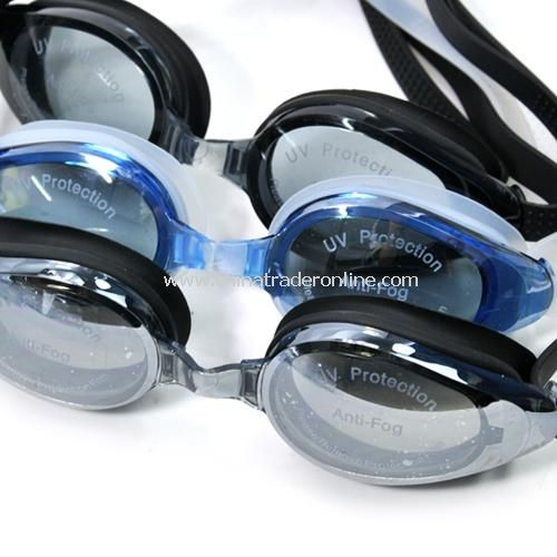 Waterproof / fog / UV protection anti-radiation swimming goggles - female models random color