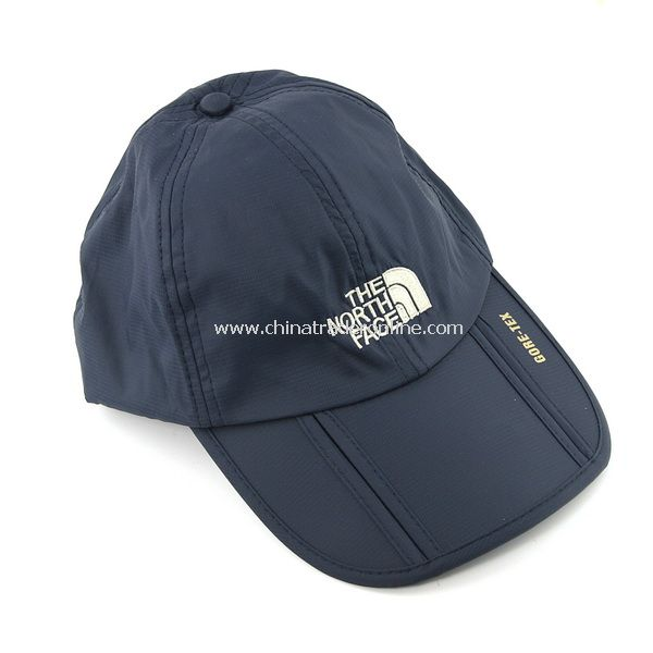 Waterproof Outdoor Hat Foldable Leisure Sports Cap w/ Adjustable Strap & Brim - Dark Blue