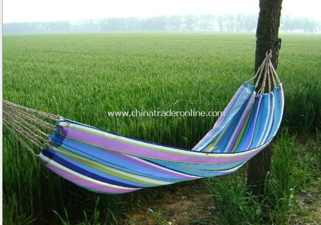 Single canvas hammocks 260 * 70 (cm) color random