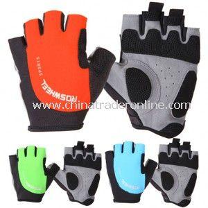 Cozy Outdoor Fiber Cloth Cycling Riding Half Finger Gloves
