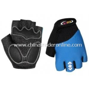 Cozy Outdoor Fiber Cloth Cycling Riding Half Finger Gloves from China