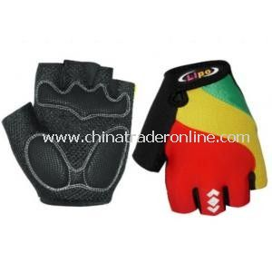Cozy Outdoor Fiber Cloth Cycling Riding Half Finger Gloves