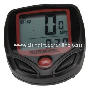 Plastics LCD Temperature Display Waterproof Cycling Computers