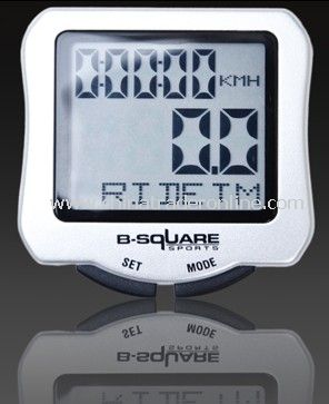 B-Square New LCD Cycle Computer Speedometer Bike Bicycle Meter White