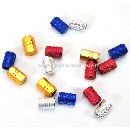 Aluminum automotive valve cap / valve cover (4pcs) Colors