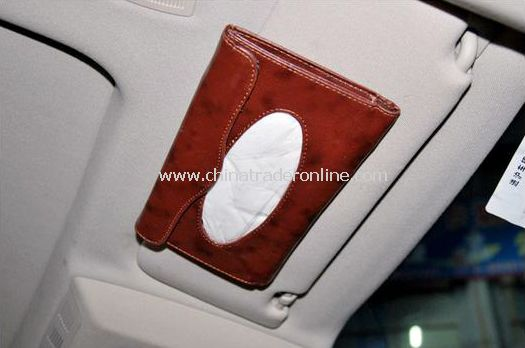 Automotive sunvisors convenient towel/hanging on-board tissue box