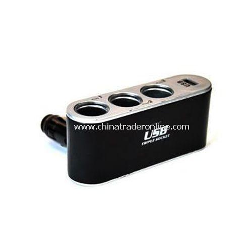 On-board three zones USB power allocation