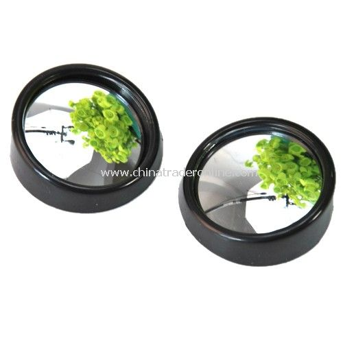 Side mirror / blind spot mirrors - black plastic frame