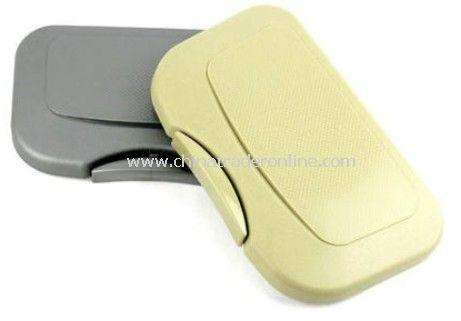 Automotive multi-function folding tray / drink holder (beige)