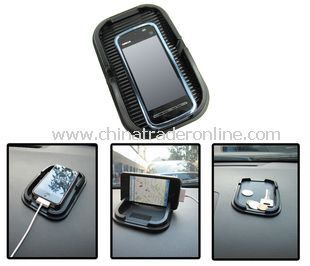 Car Anti Slip Mat for GPS cellphone iphone 4 and iphone 4s mobile phone with black color