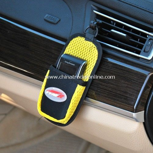 Car with multi-function out of outlet cell phone pocket random color