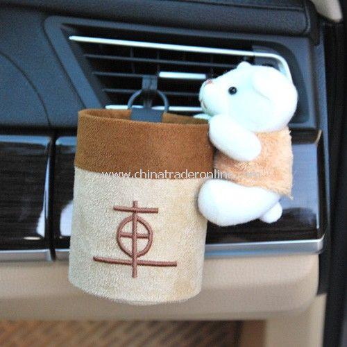 Cartoon Bear Plush car outlet compartment tube