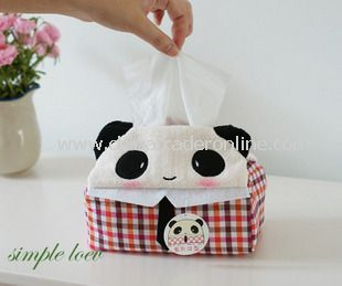 Cartoon Rectangular Car Tissue Box