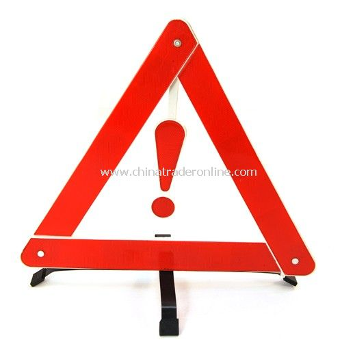 Collapsible stent reflective triangle warning stop sign