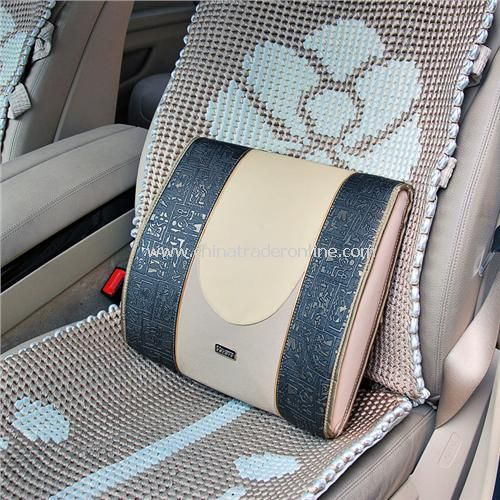 Egyptian mural style cars pad with comfortable waist / lumbar / lumbar pillow