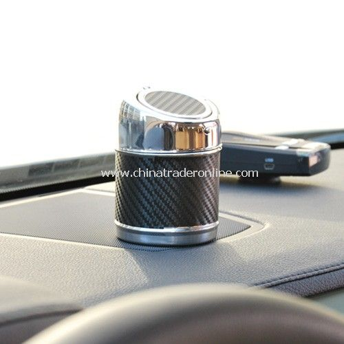 High-grade stainless steel shells automatically cover the car ashtray