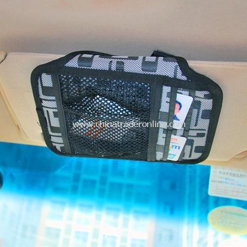 Multi-purpose vehicle sun visor CD folder / card holder / debris bags