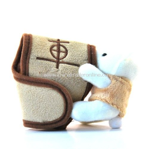 Plush doll bear automotive automatic transmission sheath