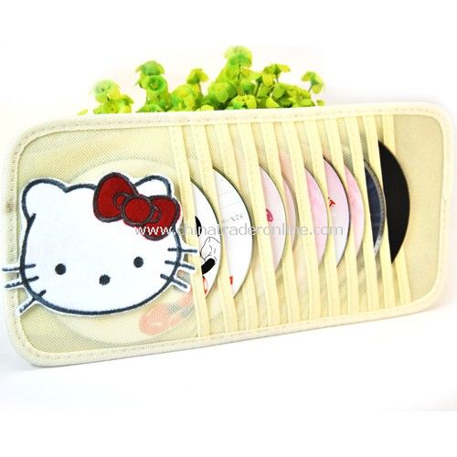 Three-dimensional cartoon car visor CD folder / CD pocket