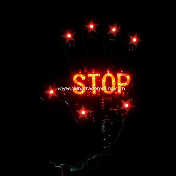 Black Palm Stop Sign Shake Car Truck LED Night Light