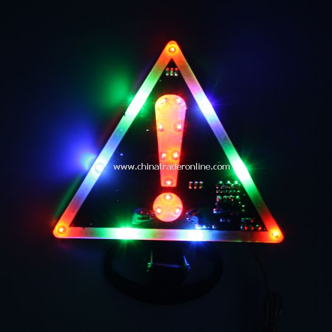 Exclamation Mark Pattern LED Colorful Car Warning Light