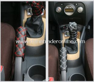 PU Car Hand Brake Manual Transmission Cover Set