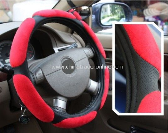 Suede 3D Steering Wheel Cover from China